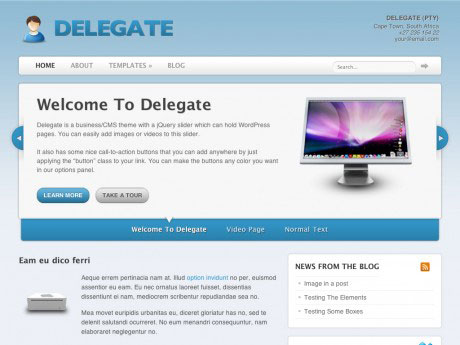 Delegate – Business Theme By WooThemes