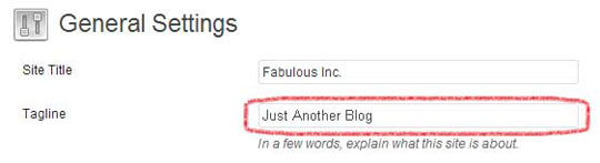 Just Another Blog Tagline
