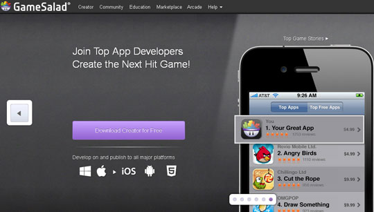 GameSalad - Mobile App Development