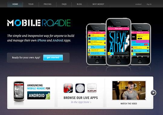 MobileRoadie - Mobile App Development