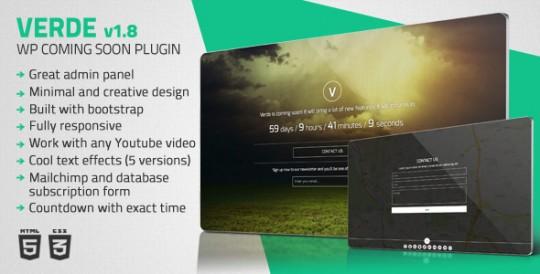 WordPress-Plugin-Verde-Responsive-WordPress-Coming-Soon-Plugin