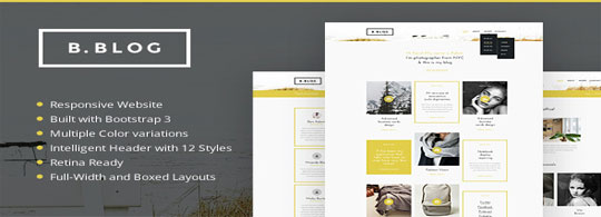 B.BLOG-HTML-Web-Template