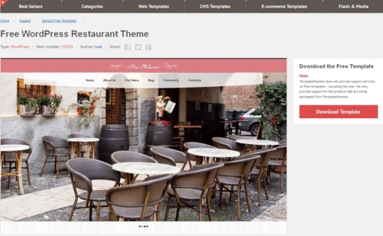 Free-WordPress-Restaurant-Theme