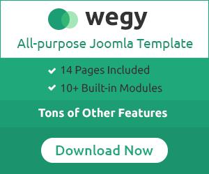 Wegy - All purpose Joomla template