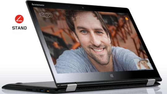 Lenovo Yoga 3 14 convertible laptop - black stand mode