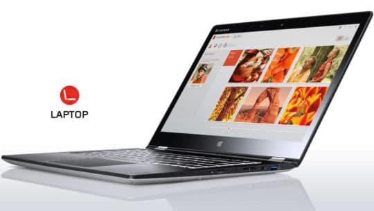Lenovo Yoga 3 14 convertible laptop - silver laptop mode