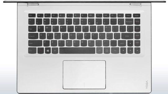 Lenovo Yoga 3 14 convertible laptop - white keyboard