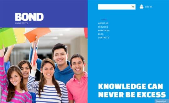 Bond University free joomla templates