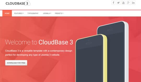 Cloudbase3 free joomla templates
