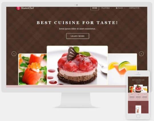 Master Chef free joomla templates