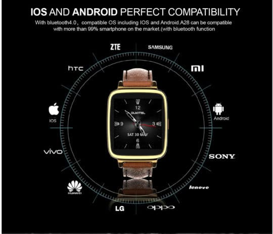 Oukitel A28 Bluetooth Smart Gear Watch - Additional Image 7