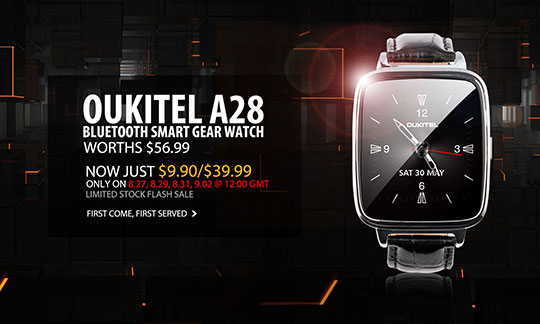 Oukitel A28 Bluetooth Smart Gear Watch Promo