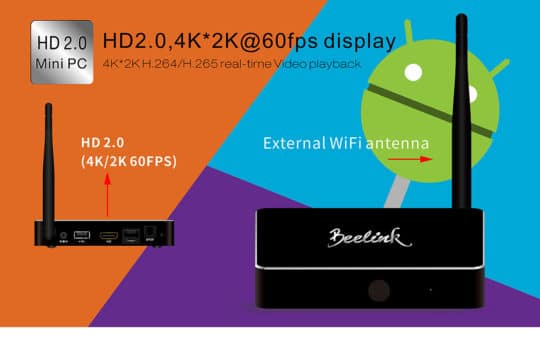 Beelink R68 TV Box (RK3368) - Android 5.1 - Additional Image 4
