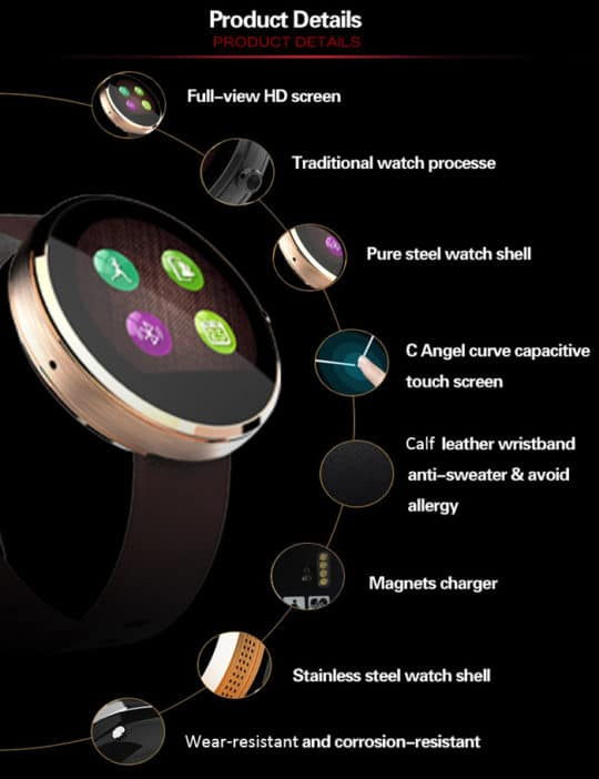 DW360 MTK2502 Smart Watch - Additional Image 2
