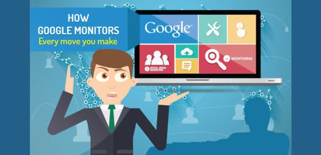 How Google Spies on You Round The Clock (Infographic)