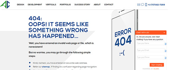AppsChopper 404 Error Page Design