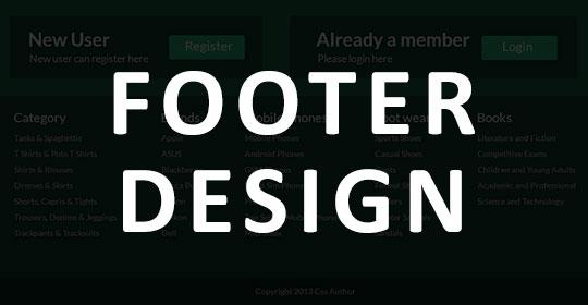 Footer Design