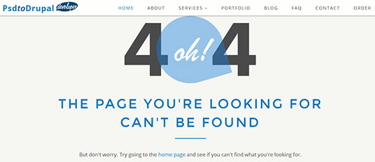 PSDtoDrupalDeveloper 404 Error Page Design