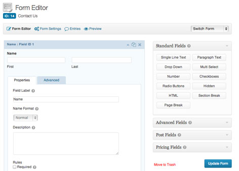 Marketing Automation Plugins for WordPress - gravity-forms