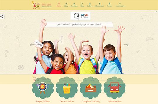 WordPress Baby Store - kidszone-woocommerce-theme