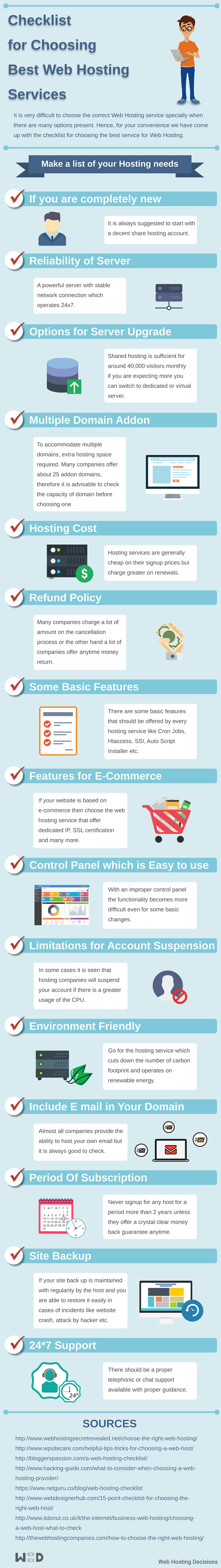 Checklist for Choosing Best Web Hosting Services (Infographic)