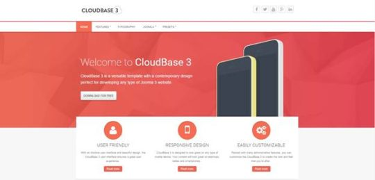 cloudbase-3 - Best Free Joomla Templates