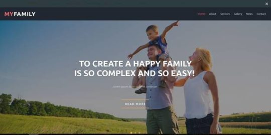 myfamily - Best Free Joomla Templates