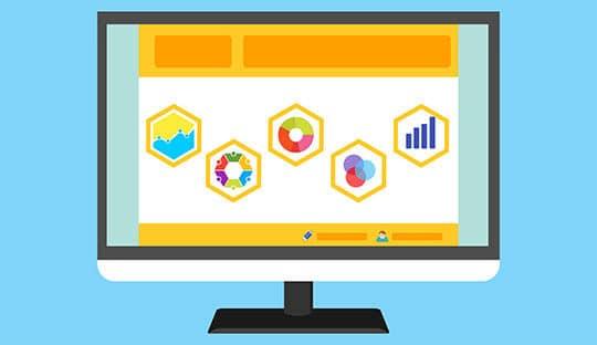 statistics-survey-website-template-computer-monitor-business-graph-report