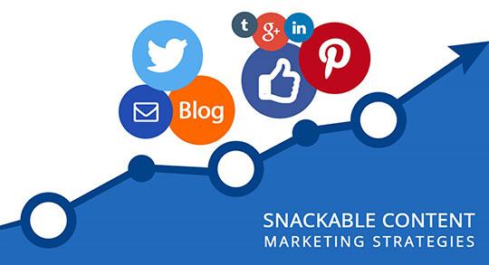 snackable content marketing strategies