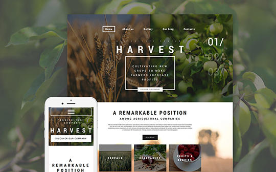 harvest-template-templatemonster