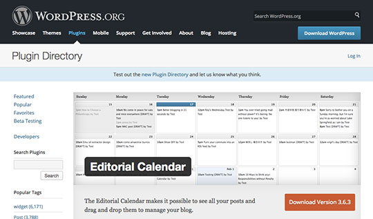 WordPress-editorial-calendar-plugin