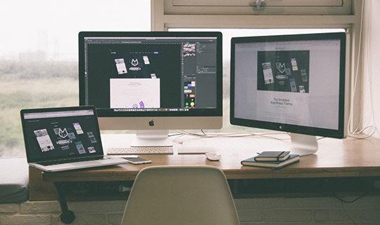 business-computers-desk-freelance-internet-laptop-office-web-design-workspace