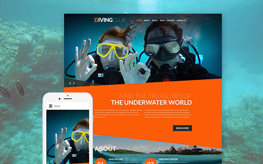 Diving-Club-Joomla-Template