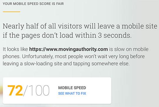 MovingAuthority-Google-Site-Speed-Test