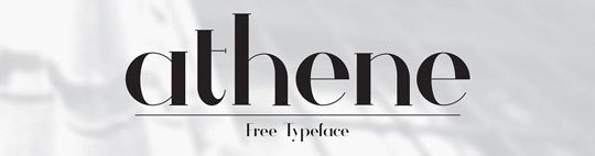 Athene - Free Fonts for Logo Design