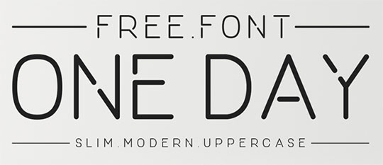 One-Day-Font - Free Fonts for Logo Design
