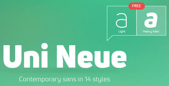 Uni-Neue - Free Fonts for Logo Design