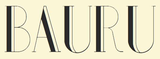 bauru-font-logo-design