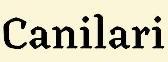 canilari-font-logo-design