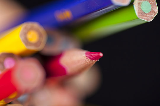 color-macro-pencil-course-photography-note-write-article-design