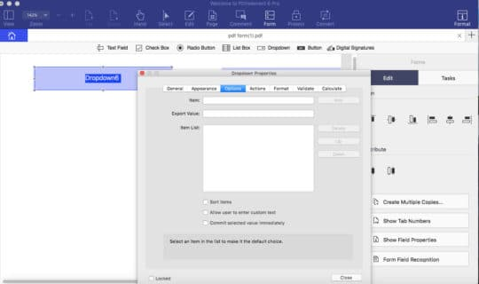 Create Fillable PDF Forms with PDFelement 6 - Step 5