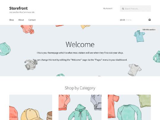 Storefront - WordPress Theme