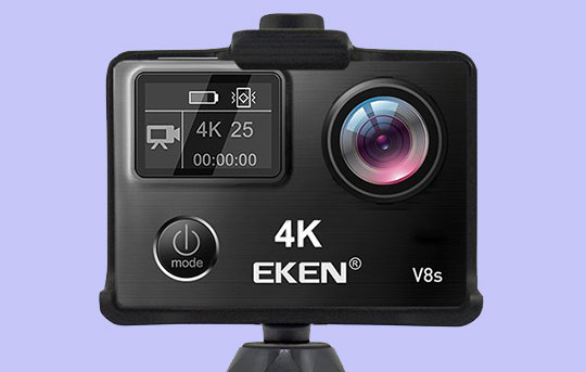 The EKEN V8s Native 4K EIS Action Camera