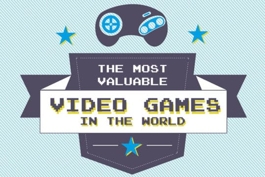 14 Rarest and Valuable Video Games in the World (Infographic)