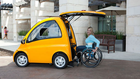 Self-Driving Cars - Vehicle-4-Wheeler-Technology-Disabled
