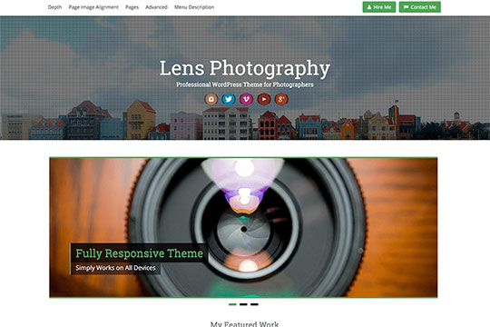 Lens - WordPress Portfolio Themes