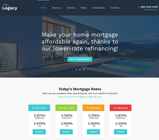 Mortgages - WordPress Business Themes