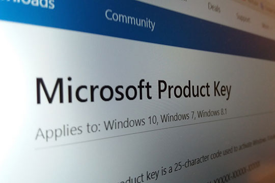 Microsoft product key