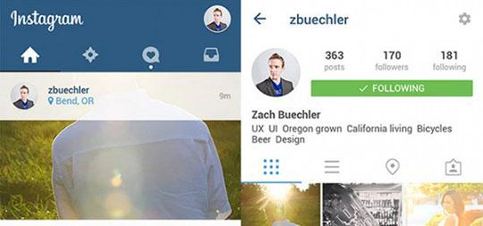 Instagram-UI-Material-Design