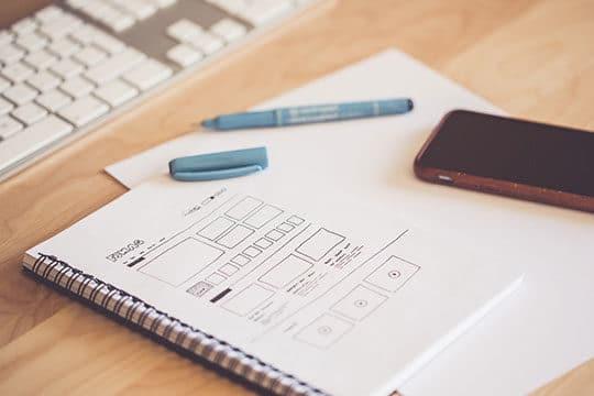 design-device-document-draw-notebook-sketch-wireframe-framework